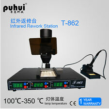 BGA Rework Station Puhui T-862 Infrared Soldering Station T862
