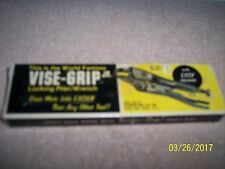 "VINTAGE VICE GRIP JR. NO. 5 WR 5"" PLIERS, NEW OLD STOCK with BOX, PETERSEN NEAT"