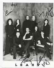 LEAHY AUTOGRAPHED 8X10 B&W PHOTO CANDIAN SINGING A DANCE GROUP FREE USA SHIPPING