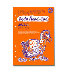 DODO ACAD-PAD A5 Filofax compatible 2016 - 2017 mid year diary refill (Aug-Aug)