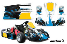 AMR Racing Paul Tracy PKT Kid JR Cadet Kart Graphic Decal Kit Parts CARBON X BLU