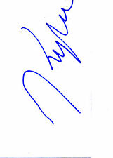 NEW ZEALAND MODEL & FILM ACTRESS KYLIE BAX HANDSIGNED 6 x 4 WHITE CARD