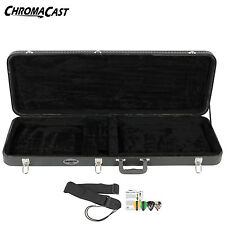 ChromaCast Electric Guitar Hard Case CC-EHC Bundle w Guitar Strap & Pick Sampler