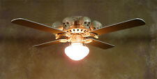 Skeleton Ceiling Fan w/ Skulls, Halloween Prop, Human Skeletons