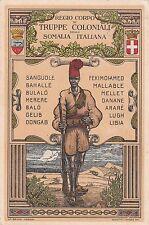* SOMALIA ITALIANA - R.Corpo Truppe Coloniali 1929 Mogadiscio, Borsetti Camperio
