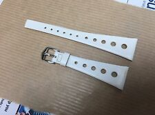 20mm Vintage Corfam Race Rally Dive Straps 50+years Old. White