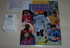 Panini les mejores equipos de Europa 1996/7 Suelto 310 Etiqueta de Conjunto + Álbum Vacío
