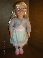 "Our Generation / Battat - 18"" Doll w/ Blonde Hair - Original Clothes w/ Shoes"