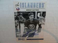 Brent Sutter 2012/13 Panini Classics On Card Autograph New York Islanders