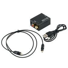 Digital Optical Coaxial Toslink Signal to Analog Audio Converter Adapter RCA UL