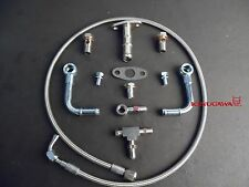 Universal Turbo Oil Water Line T25 T28 7/16-24 Oil Feed / M14x1.5mm Water