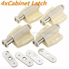 4 x White Magnetic Push to Open System Kitchen Latch Cabinet Cupboard Drawer