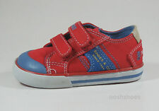 Pablosky Boys Red Canvas Trainers UK 7 EU 24 US 7.5  901360