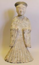 """Museum Quality 20"""" Tang Dynasty Art Pottery Statue of Woman  c. 900 AD"""