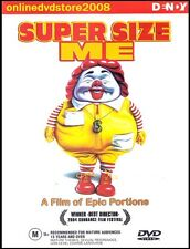 SUPER SIZE ME - Morgan SPURLOCK - McDonald's Documentary DVD (NEW SEALED) Reg 4