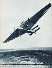 1931 Vintage 16x20 AVIATION AIRPLANE Aerial JUNKERS Landscape Photo Gravure Art
