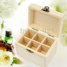 6 Slot 5~10ml Natural Wood Box Essential Oil Aromatherapy Storage Pack Case
