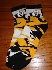 PITTSBURGH STEELERS NFL ADULT FOOTBALL BIO CAMO JERSEY 1/4 LENGTH SOCKS MEDIUM