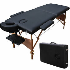 "Black Portable 84"" Massage Bed Table Case T1 Chair Spa Facial Salon Tattoo reiki"