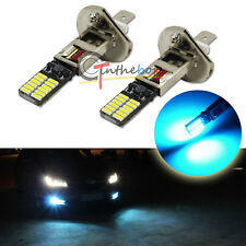 2x Ice Blue 24-SMD-4014 H1 LED Replacement Bulbs For Fog Lights Driving DRL