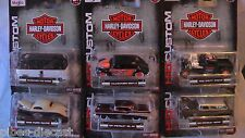 MAISTO 1:64 HARLEY DAVIDSON WAVE 1 VW BUS BEETLE BEL AIR NOMAD +2 NEW