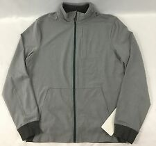 Lululemon Men PrePost Athletic Jacket Full Zip Reflective LUON Gray Green Size M
