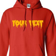 Custom Creepy Text HOODIE Personalized Scary Halloween Bloody Font Sweatshirt