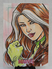 ROGUE X-MEN 2013 ORIGINAL WOMEN OF MARVEL SKETCH CARD