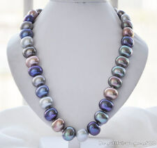 Z5952 HUGE 19mm multicolor egg SOUTH SEA SHELL PEARL NECKLACE 24inch