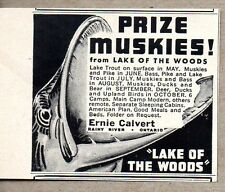 1954 Print Ad Prize Muskies Lake of the Woods Ernie Calvert Rainy River,Ont Can