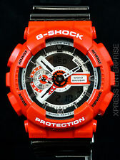 NEW WITH TAGS Casio Gshock X-Large Ana-Digi GA110RD-4A BLACK RED Watch