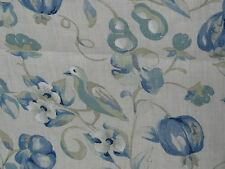 "SANDERSON ""PEAR & POMEGRANATE"" 1.05 metres birds designer curtain fabric BLUE"