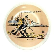 Newall Pottery Norman Rockwell On Tour Die Walk am Rhein Collector Plate Ltd. Ed