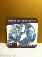 Guinness Irish beer Cork Jazz Festival 2003 square beer coaster coasters 1 S4