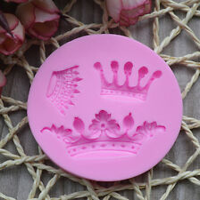 Silicone DIY Handmade Crown Cake Fondant Chocolate Mold Gâteau Couronne Mold
