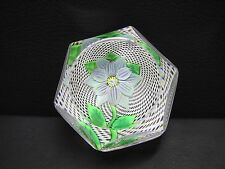 St Louis 1972 Annual Edition Faceted Blue Double Clematis Paperweight