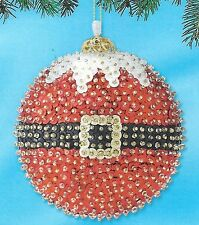 """Santa Suit"" kit makes 2 ornaments  Beads, Sequins Christmas"