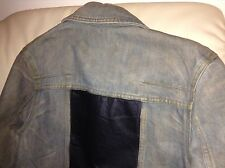 DIOR HOMME Ice Blue Denim Jacket Blouson Runway STRIP Hedi 04SS size 46 w/ tags