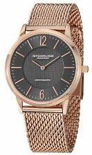 "Stuhrling Men's 122 334454 ""Ascot Somerset Elite"" Analog 16k Rose Gold Watch"