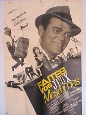 Old Large 1965 French Movie Poster Faites vos jeux Mesdames Eddie Constantine