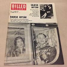 QUEEN ANNE-MARIE GREECE KING CONSTANTINE II NEW YEAR Magazine Billed-Bladet 1963