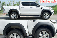 6 INCHES TOYOTA HILUX REVO M70 M80 YEAR 2015 2016 FENDER FLARES WHEEL ARCHES 17