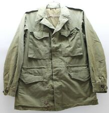 US WWII M43 Field Jacket cotton sateen size 36L used M9751