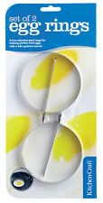 Kitchen Craft Egg Rings, Stainless Steel, Set of 2