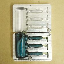 "DIY 1-1/8"" (~28mm) a-la Ecogear Grass Minnow SS lure aluminium mold - 3 cavities"