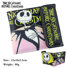 Disney Nightmare Before Christmas Jack Skellington Trifold Short Wallet Purse