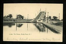 Amusement Park postcard Rocky Point, Rhode Island RI The Shutes flume ride