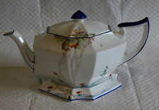 Shelley Queen Anne Shape 11719  Autumn Leaves Teapot & Stand