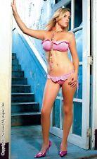 Sensual Mystique Pink Bandeau Top mit passenden Höschen Dessous Erotik 80127