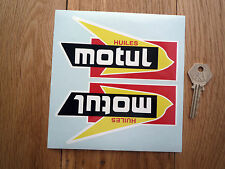 "MOTUL HUILES Shaped Car Bike STICKERS 5.5"" Handed Pair Race Rally Endurance Oil"